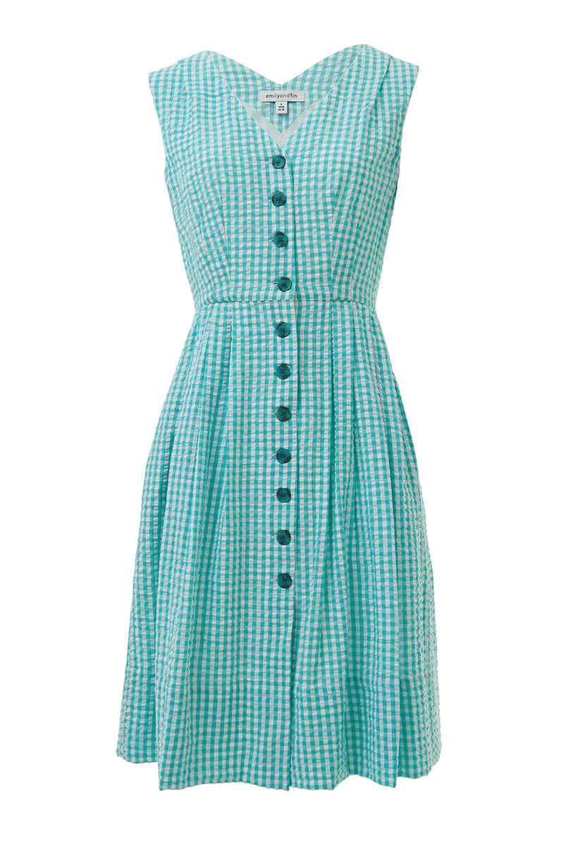 Emily and Fin Scarlett Dress Mint Gingham PRE-ORD