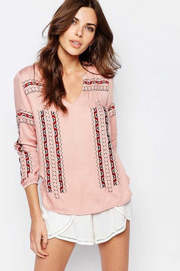 See U Soon Embroidered Tunic Top