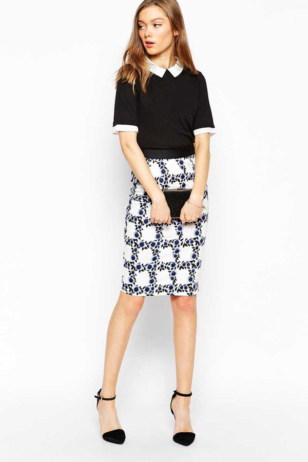 Sugarhill Boutique Pansy Pencil Skirt