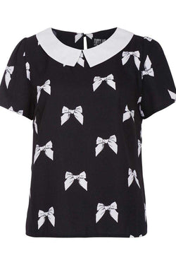 Poppy Lux Elaine Bow Print Top