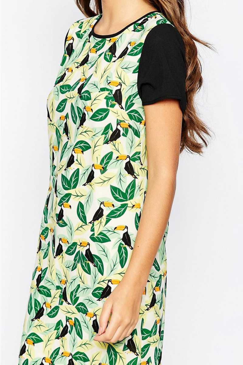 Sugarhill Boutique Toucan Tropical Tunic Dress