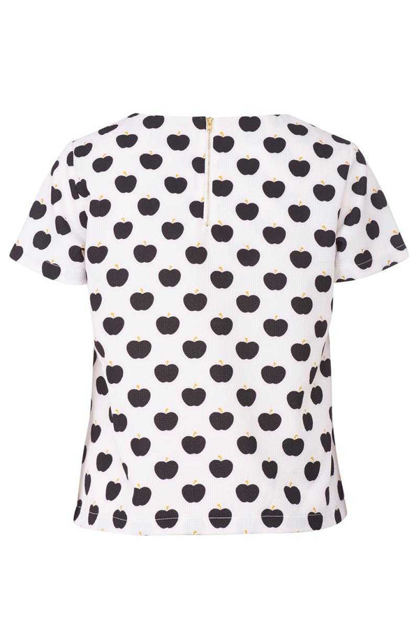 Poppy Lux Rosella Apple Print Tee Top