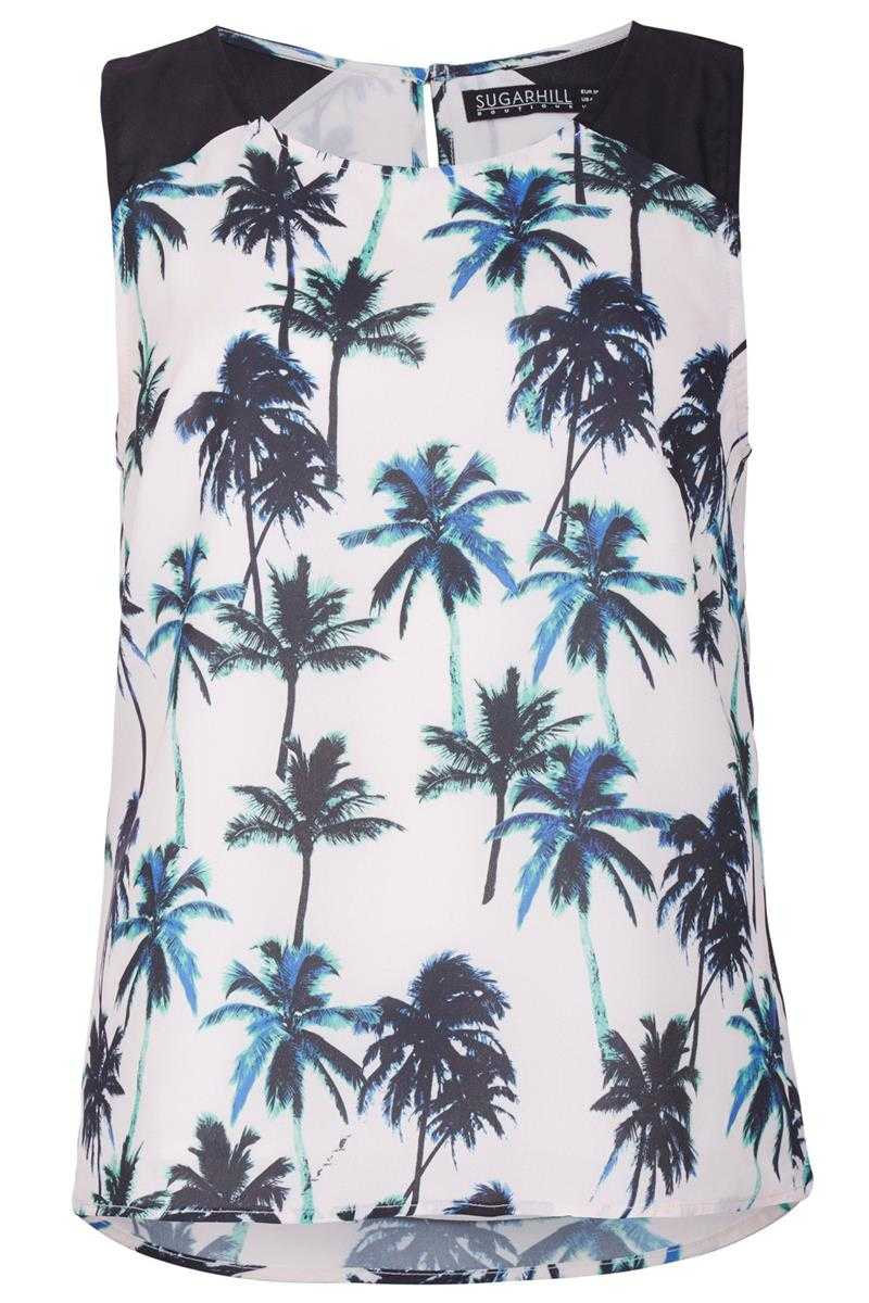 Sugarhill Boutique Palm Tree Shell Top