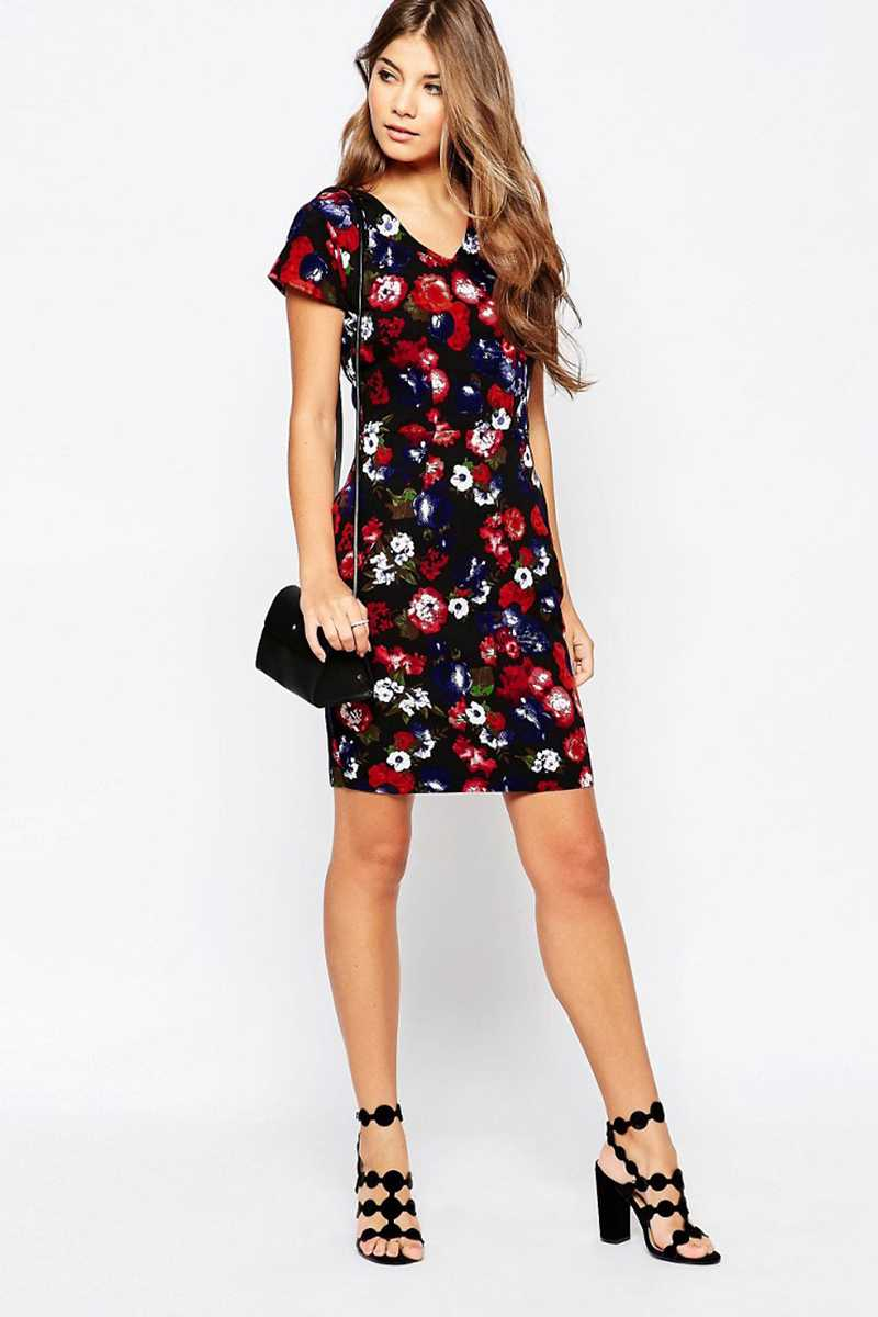 Poppy Lux Tarsha Floral Tulip Shift Dress