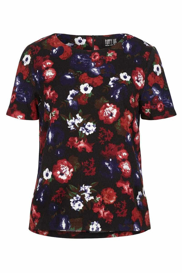 Poppy Lux Rosella Floral Tee Top