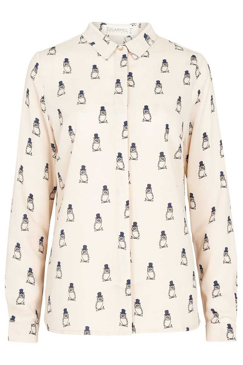 Sugarhill Boutique Jemima Owl Print Shirt