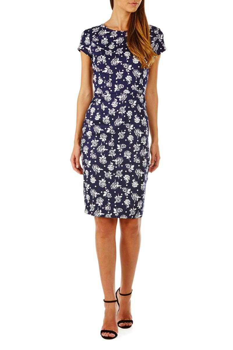 Poppy Lux Serita Rose Dot Shift Dress