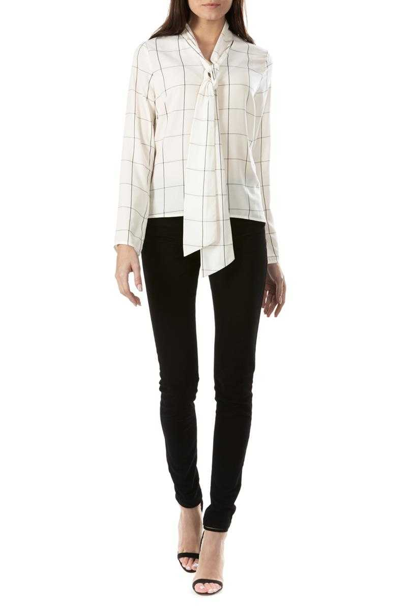 Sugarhill Boutique Sarah Check Tie Neck Top