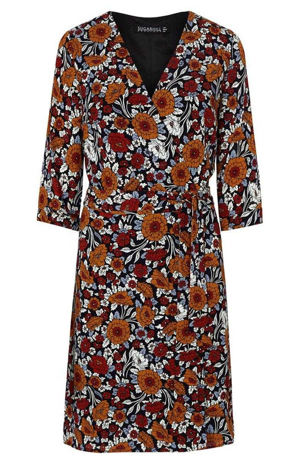 Sugarhill Boutique Iliana Floral Print Wrap Dress