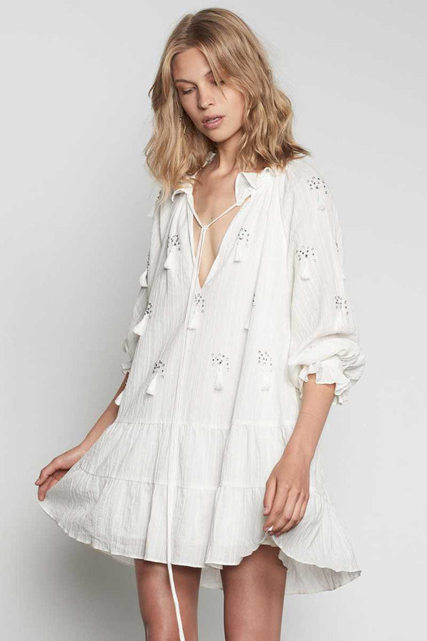 Stevie May Novella Embellished Boho Dress