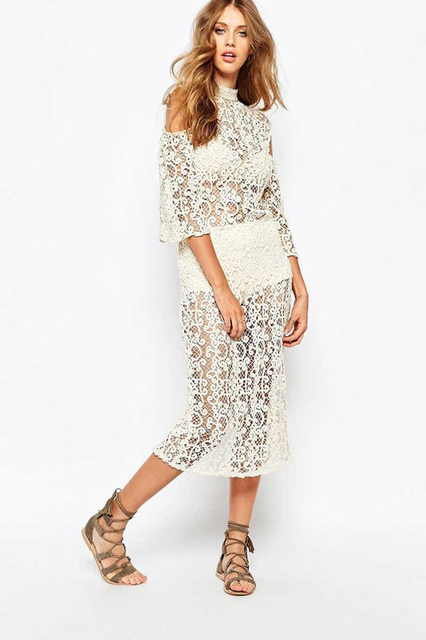 Stevie May Lace Midi In Reverse Dress