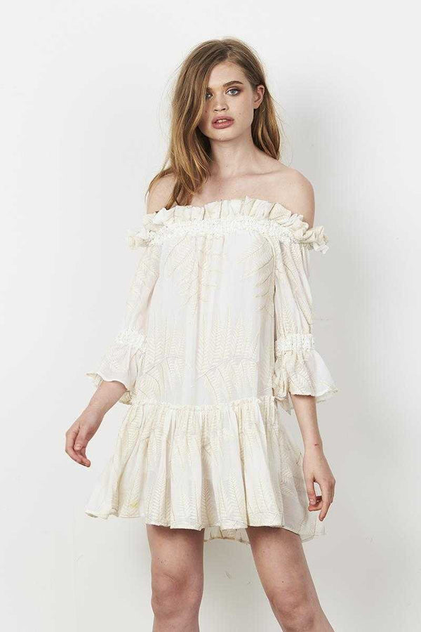 Stevie May Inca Off Shoulder LS Mini Dress