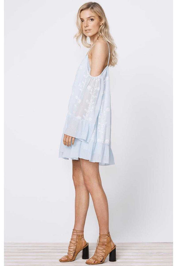 Stevie May Morning Haze Floral Embroidered Mini Dress