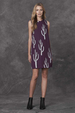 Stevie May Succulence Cactus Print Mini Dress