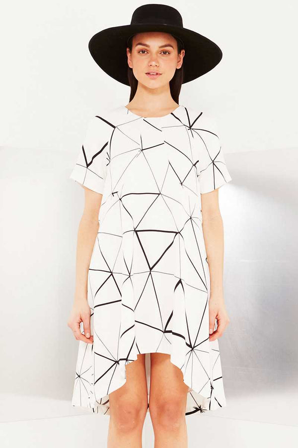 TALULAH Mirror Grid Mini Dress