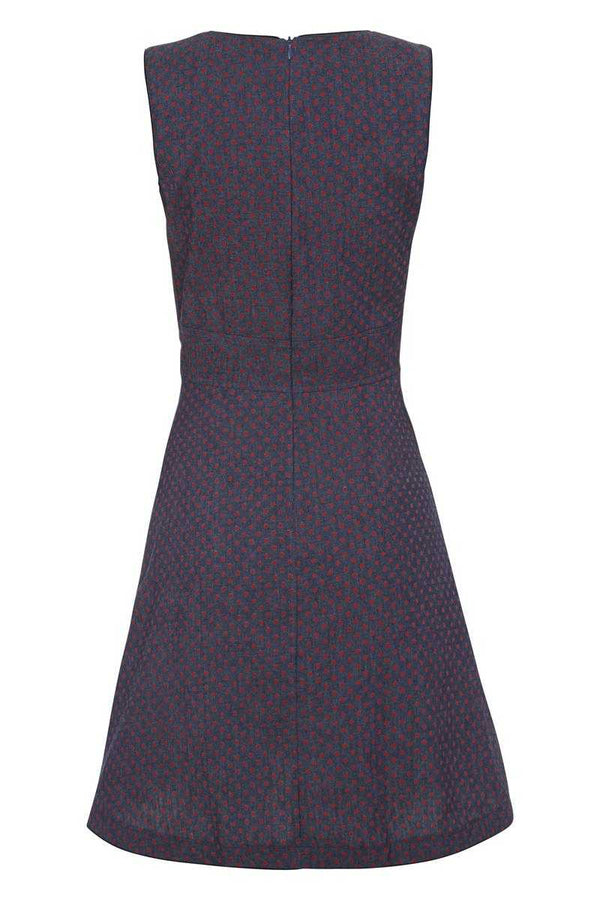 Trollied Dolly Denim Bow Dress