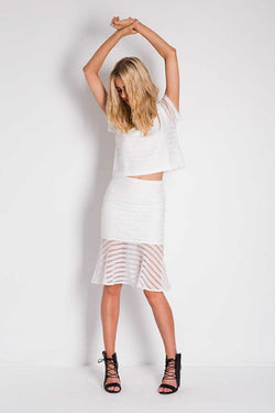 Three of Something Wild Frontier Stay in Line Skirt