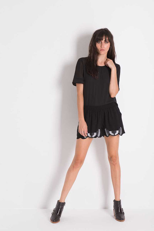 Three of Something Ceremony Shorts Black