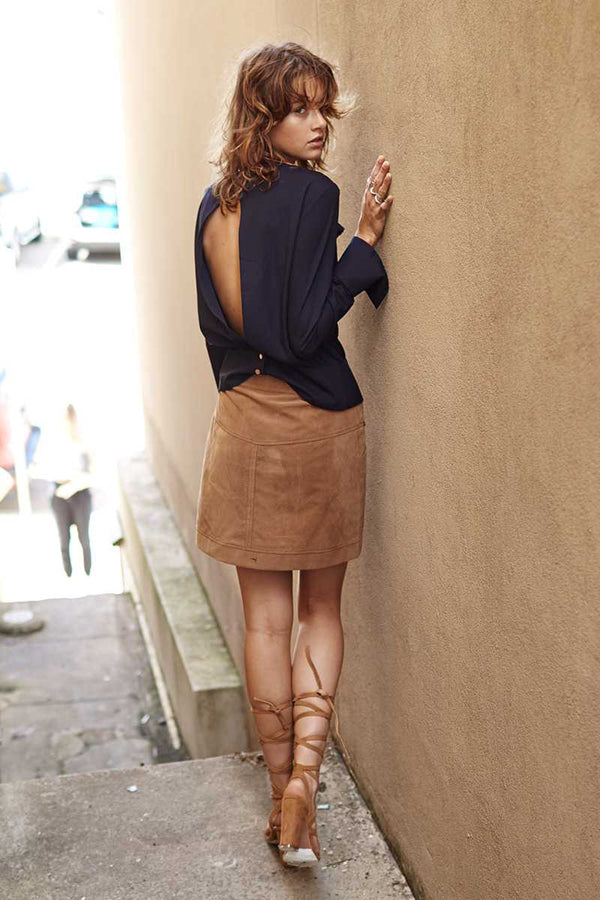 Three of Something Tennesse Suede Skirt