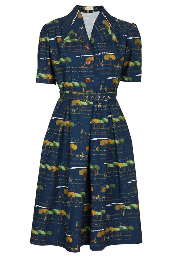 Palava Vivienne Dress Navy Dog Concierge