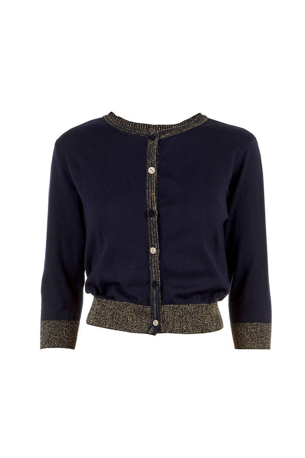 Palava Organic Cotton Cardigan Sparkly Navy