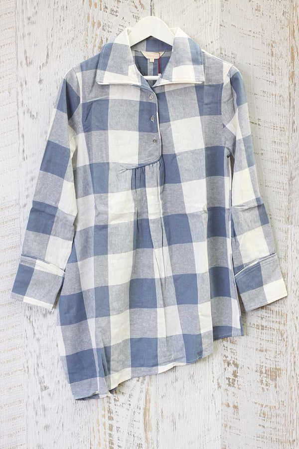 The Wallflower Grip Check Shirt Dress