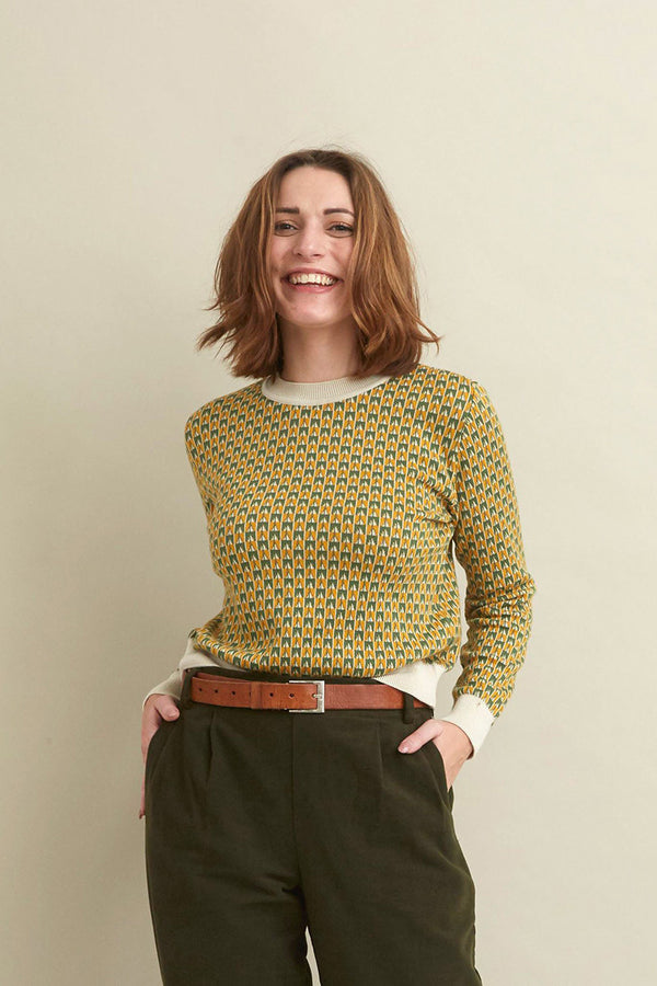 Palava Alba Mustard Rocket Organic Cotton Jumper