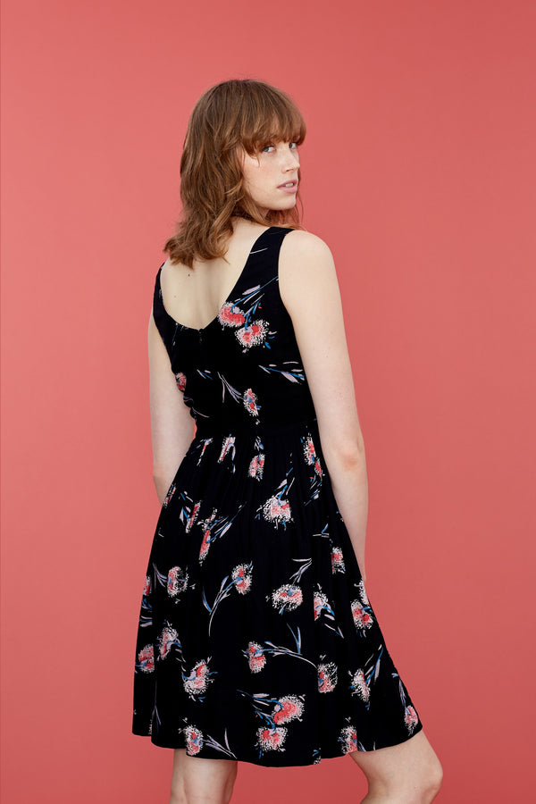 Emily and Fin Abigail Dress Pom Pom Floral