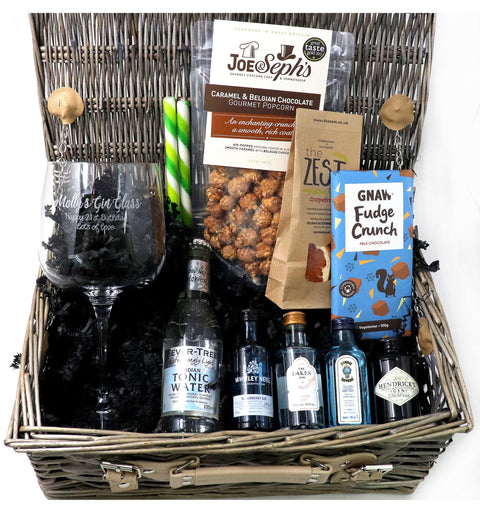 Personalised Luxury Gin & Tonic Gift Hamper with Balloon Glass (B)