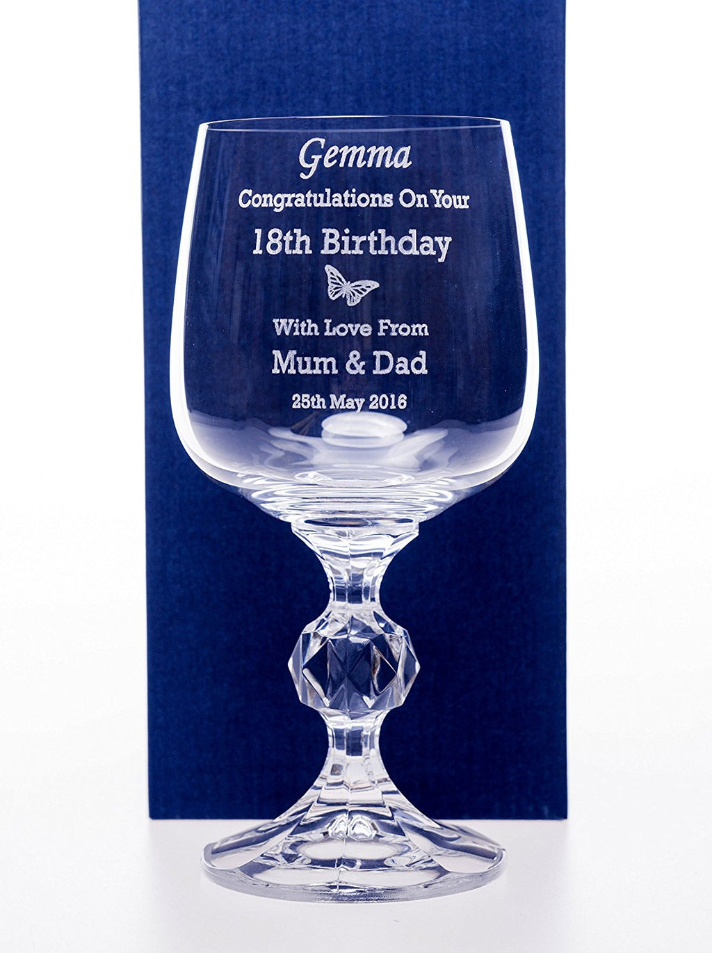 Personalised Claudia Wine Glass - Special Occasion Design