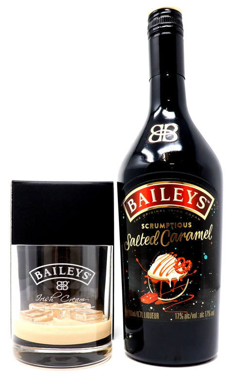 Personalised Premium Tumbler & 70cl Salted Caramel - Baileys Label Design