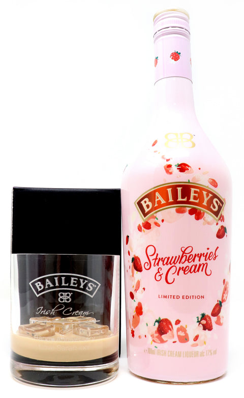 Personalised Premium Tumbler & 70cl Strawberries & Cream - Baileys Label Design
