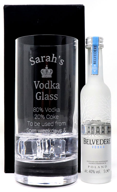 Personalised Premium Highball Glass - Vodka % Design