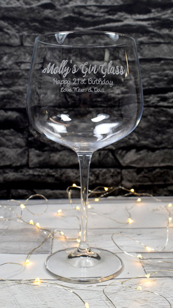 Personalised Gin Cocktail Balloon Glass - Gin Design
