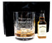 Personalised Crystal Glass Tumbler + Jack Daniels Honey in Silk Gift Box
