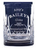 Personalised Crystal Glass Tumbler - Baileys Design
