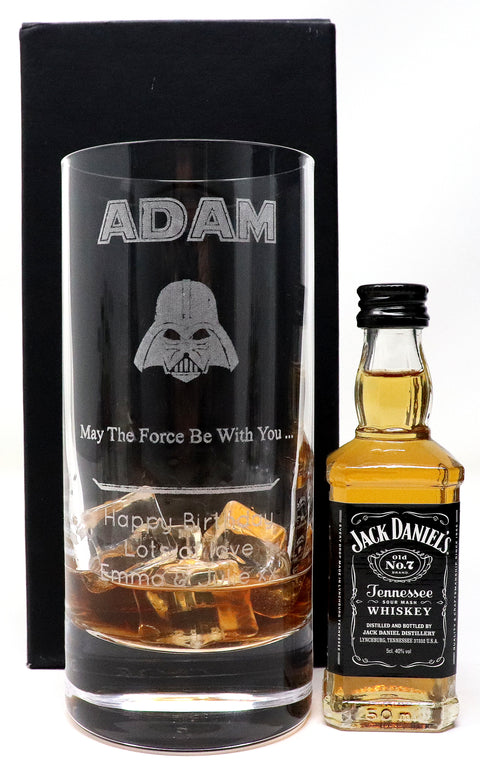 Personalised Premium Highball Glass - Star Wars Darth Vader Design
