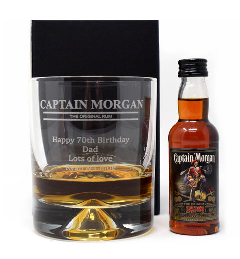 Personalised Dimple Tumbler - Captain Morgan Design