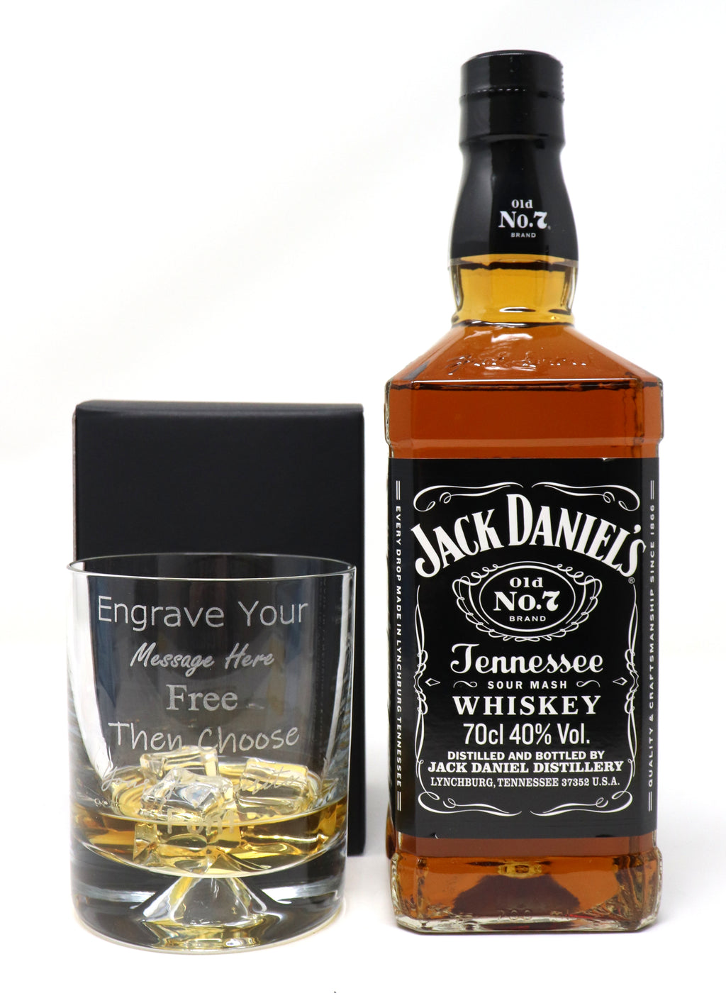 Personalised Dimple Tumbler & 70cl Jack Daniels