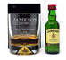 Personalised Dimple Base Glass Tumbler & Miniature - Jameson Design