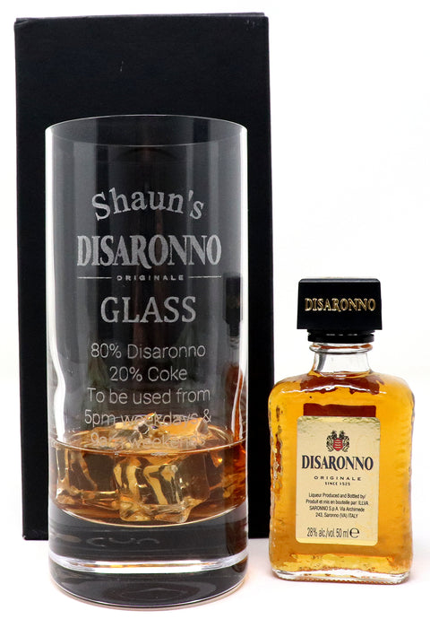 Personalised Premium Highball Glass - Disaronno % Design