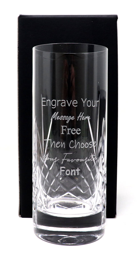 Personalised Crystal Highball Glass