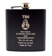 Personalised *Black* Hip Flask in Gift Box - Star Wars BB8 Design