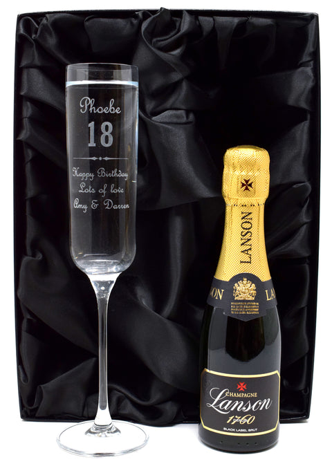 Personalised Fusion Flute & Champagne - Birthday (F) Design