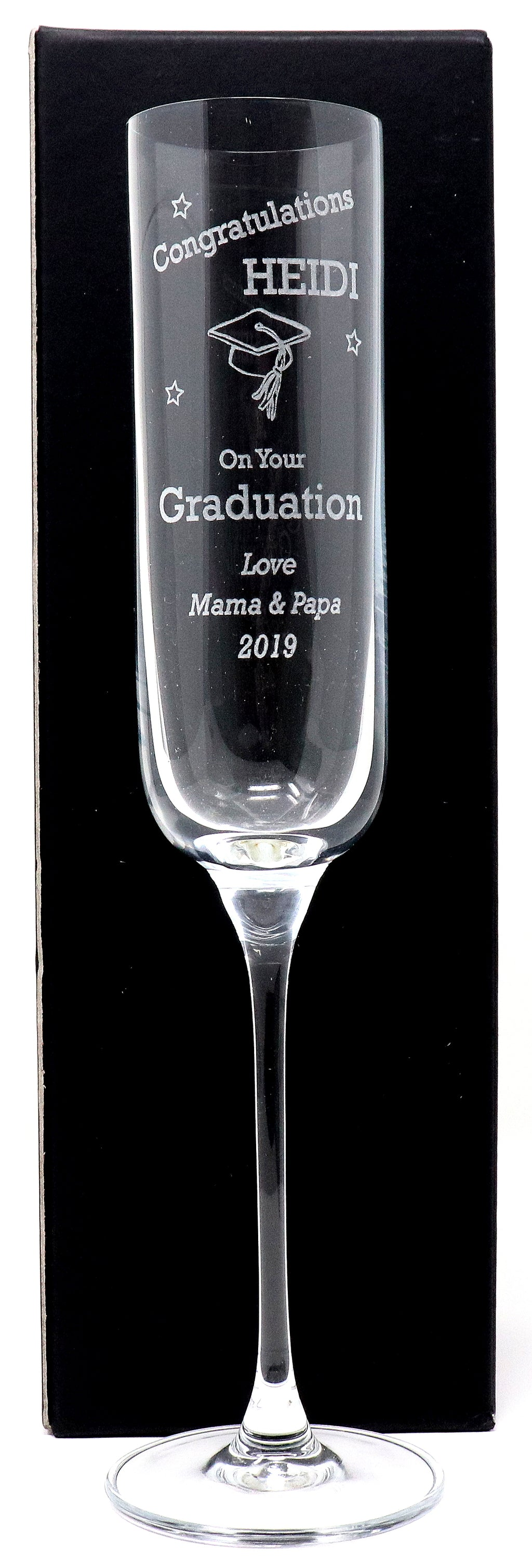 Personalised Fusion Champagne Flute - Graduation Design