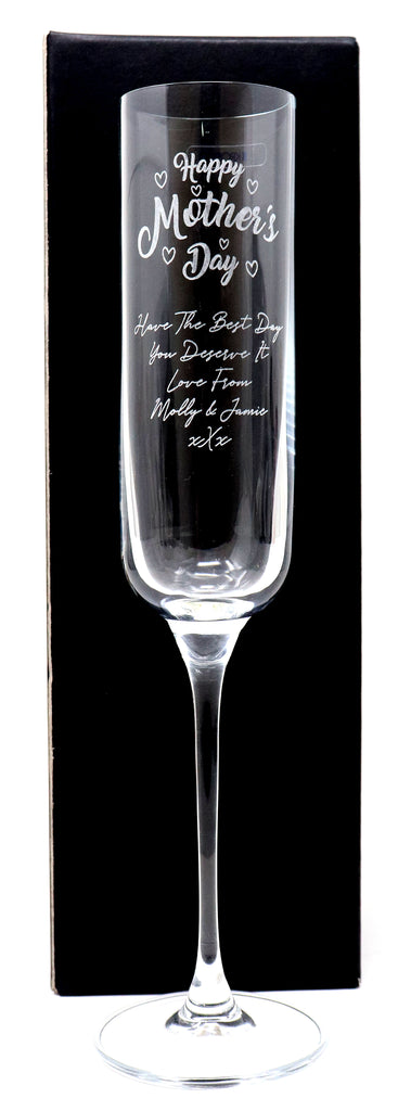 Personalised Fusion Champagne Flute - Mothers Day Design