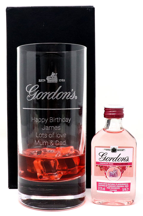 Personalised Premium Highball Glass - Gordon's Gin Design