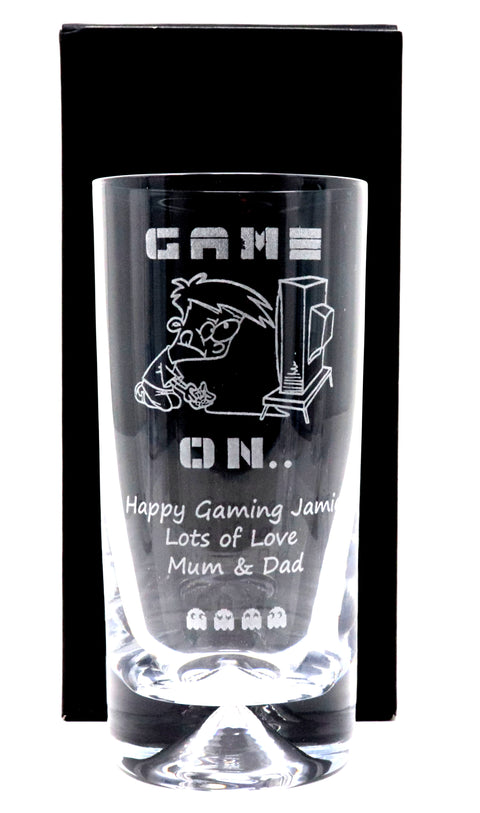 Personalised Dimple Highball - Gamer Design