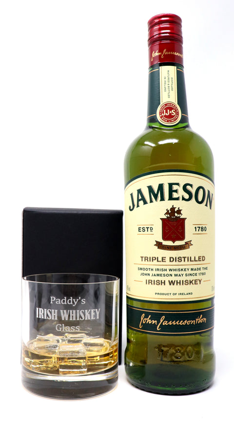 Personalised Premium Tumbler & 70cl Jameson - Irish Whiskey Design