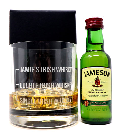 Personalised Premium Tumbler - Single/Double Irish Whiskey Design